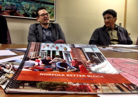 City staff meeting.  The book in the foreground is a report from a successful project in Norfolk, VA.