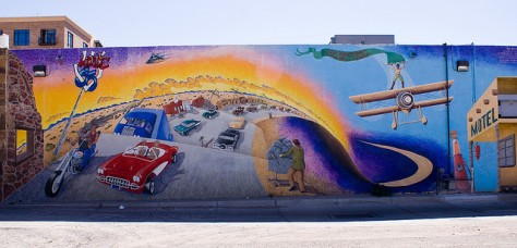 One of many amazing murals in Downtown ABQ.