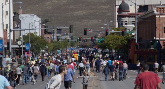 A Sunday Streets event in Missoula, Montana.