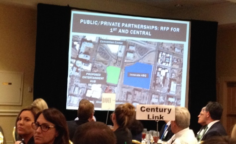 An image from a NAIOP presentation about the mayors proposal for the Innovation Center in Downtown ABQ.