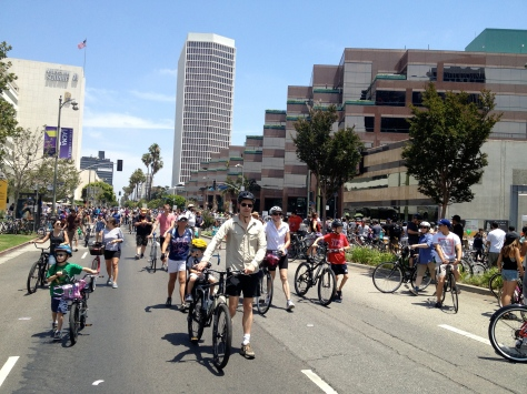CicLAvia, an open streets event in Los Angeles