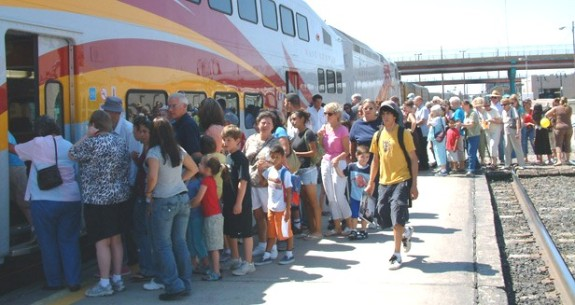 The New Mexico Railrunner, an important regional transportation investment.   Photo credit: LightRailNow.org.