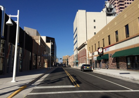 The completed 4th Street renovation, looking north from Central Avenue.