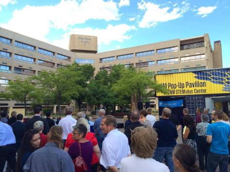 An image from the grand opening of the CNM STEMulus Center, Sept. 2014.