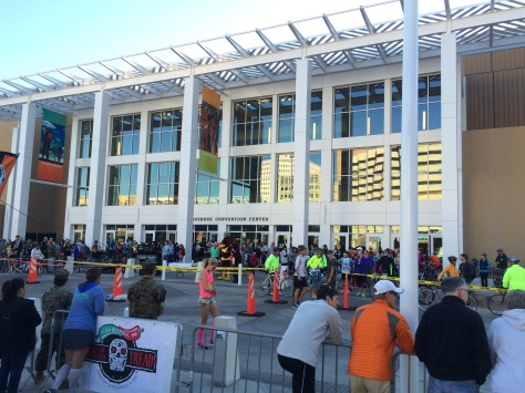 The renovated Convention Center is already attracting new event programming. Pictured here is the Day of the Tread, a massive local running and biking event, which in previous years was located at a different venue.