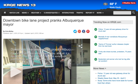 A screenshot from the KRQE news story.