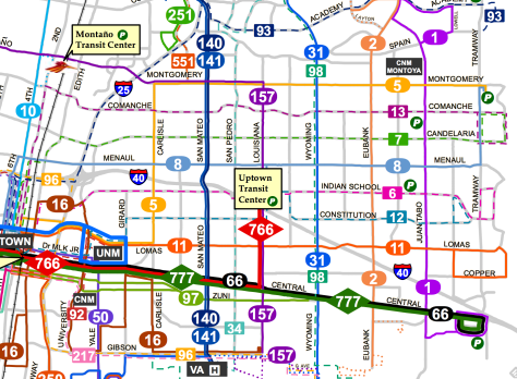 abq ride system map