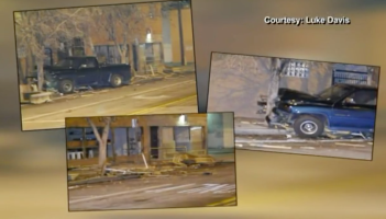 Images of the destroyed parquito. These images could also be a commentary about driver behavior in Albuquerque in general.